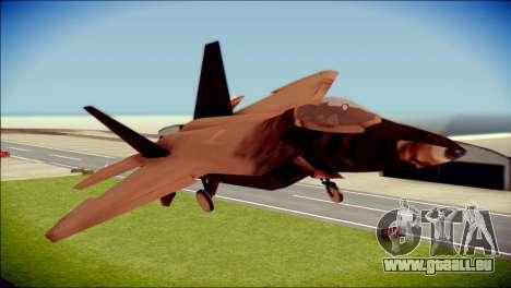 F-22 Raptor G1 Starscream für GTA San Andreas Rückansicht
