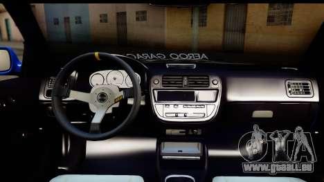 Honda Civic Hatchback pour GTA San Andreas vue de côté