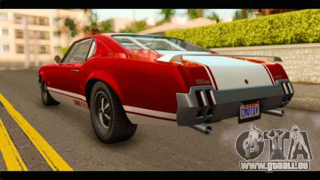 GTA 5 Declasse Sabre GT Turbo pour GTA San Andreas laissé vue