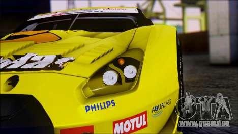 Nissan GTR R35 JGTC Yellowhat Tomica 2008 pour GTA San Andreas vue intérieure
