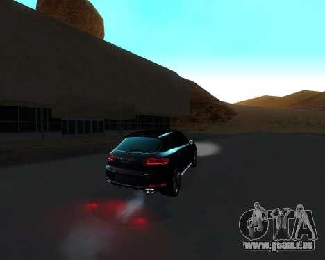 Porsche Macan Turbo für GTA San Andreas Unteransicht