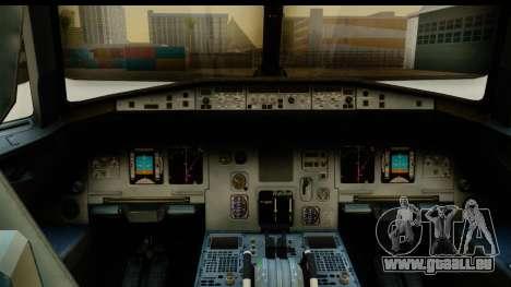 Airbus A320-200 AirAsia Queens Park Rangers für GTA San Andreas zurück linke Ansicht