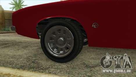 GTA 5 Declasse Stallion pour GTA San Andreas sur la vue arrière gauche
