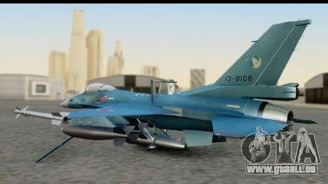 F-2A Viper Blue pour GTA San Andreas sur la vue arrière gauche