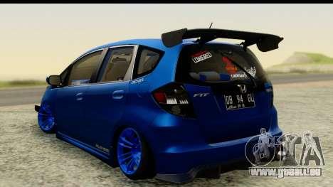 Honda Fit 2009 JDM Modification pour GTA San Andreas laissé vue