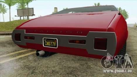 GTA 5 Declasse Stallion für GTA San Andreas Rückansicht