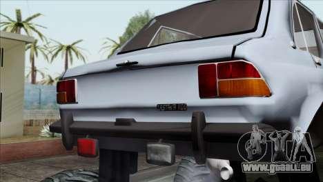 Zastava 1100 Monster pour GTA San Andreas vue arrière
