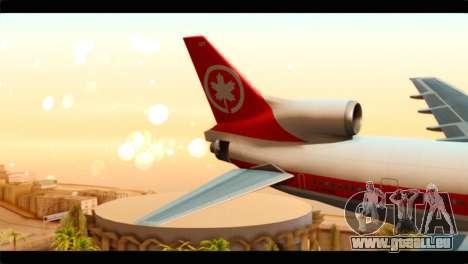 Lookheed L-1011 Air Canada pour GTA San Andreas sur la vue arrière gauche