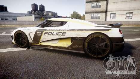 Koenigsegg Agera 2013 Police [EPM] v1.1 PJ2 für GTA 4 linke Ansicht