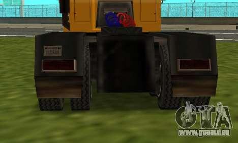 PS2 RoadTrain pour GTA San Andreas sur la vue arrière gauche