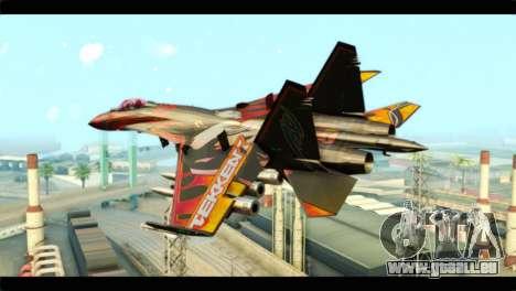 SU-35 Flanker-E Tekken für GTA San Andreas linke Ansicht