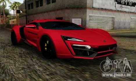 Lykan Hypersport 2014 Livery Pack 1 für GTA San Andreas