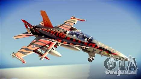 FA-18D Hornet RCAF Tigermeet pour GTA San Andreas