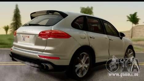 Porsche Cayenne S 2015 pour GTA San Andreas laissé vue