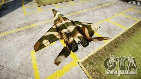 Die MiG-29 für GTA 4 hinten links Ansicht