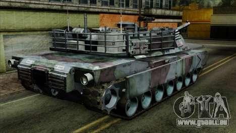 M1A2 Abrams Woodland Blue Camo pour GTA San Andreas laissé vue