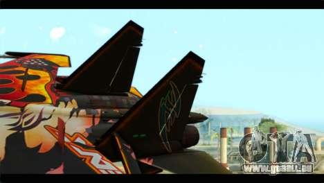 SU-35 Flanker-E Tekken pour GTA San Andreas sur la vue arrière gauche