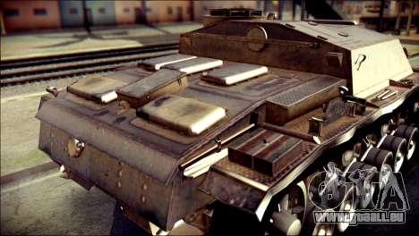 StuG III Ausf. G pour GTA San Andreas vue arrière