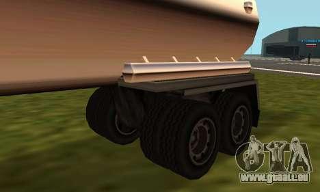 PS2 Petrol Trailer pour GTA San Andreas sur la vue arrière gauche