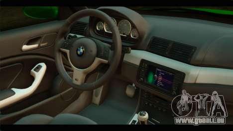 BMW M3 E46 Stock pour GTA San Andreas vue de droite