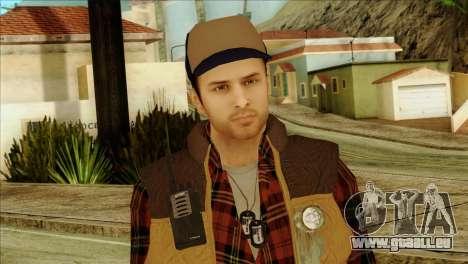 Big Rig Alex Shepherd Skin pour GTA San Andreas troisième écran