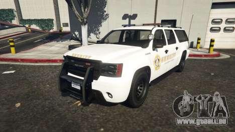 Declasse Sheriff SUV white pour GTA 5