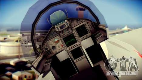 EuroFighter Typhoon 2000 Luftwaffe pour GTA San Andreas vue arrière