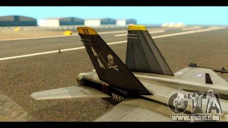 FA-18 Jolly Roger Black pour GTA San Andreas sur la vue arrière gauche