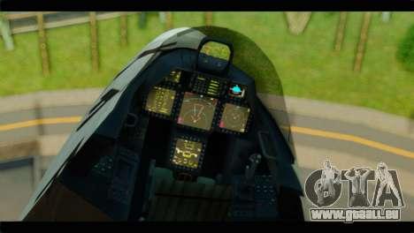 F-22 Raptor Starscream für GTA San Andreas rechten Ansicht