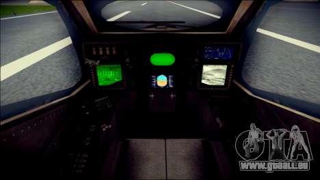 AH64 Apache MOHW für GTA San Andreas Rückansicht