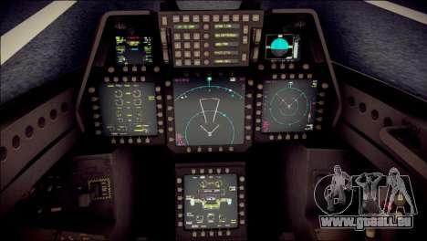 F-22 Raptor Desert Camo für GTA San Andreas rechten Ansicht