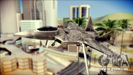F-22 Raptor Digital Camo für GTA San Andreas