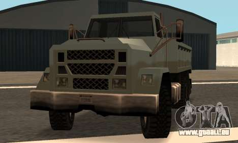 Flatbed Fixed pour GTA San Andreas vue arrière
