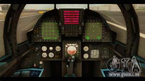 McDonnell Douglas F-15E Strike Eagle pour GTA San Andreas vue arrière