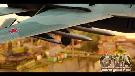 MIG-29 Fulcrum für GTA San Andreas rechten Ansicht