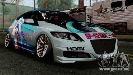 Honda CRZ Mugen Stance Miku Itasha für GTA San Andreas