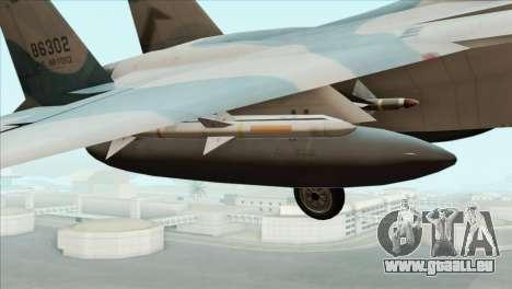 McDonnell Douglas F-15D Philippine Air Force pour GTA San Andreas vue de droite