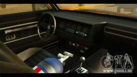 GTA 5 Declasse Sabre GT Turbo IVF pour GTA San Andreas vue de droite