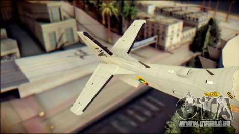 EMB 314 Super Tucano Colombian Air Force pour GTA San Andreas sur la vue arrière gauche