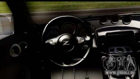 Nissan 370Z Nismo 2010 pour GTA San Andreas vue intérieure