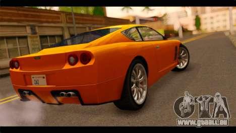 GTA 5 Dewbauchee Super GT für GTA San Andreas linke Ansicht