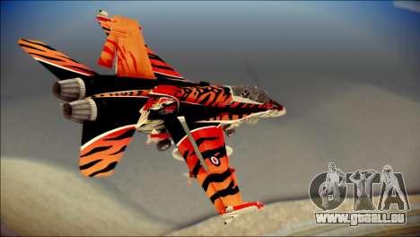 FA-18D Hornet RCAF Tigermeet pour GTA San Andreas laissé vue