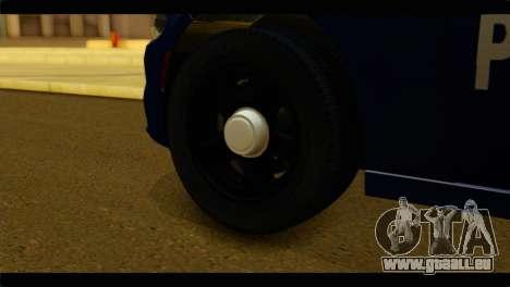 Dodge Charger 2015 Mexican Police für GTA San Andreas zurück linke Ansicht