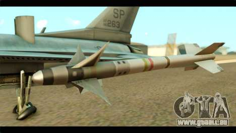 Lockheed Martin F-16C Fighting Falcon Warwolf für GTA San Andreas rechten Ansicht