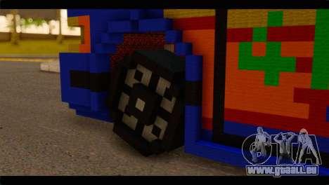 Minecraft Elegant pour GTA San Andreas sur la vue arrière gauche
