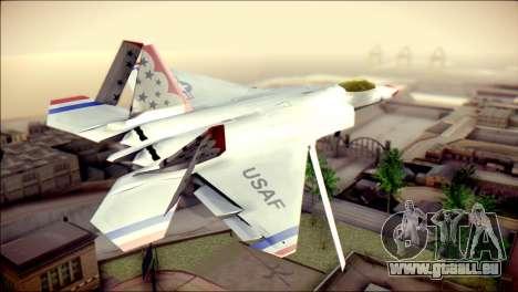 F-22 Raptor Thunderbirds pour GTA San Andreas laissé vue