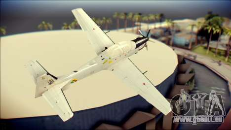 EMB 314 Super Tucano Colombian Air Force für GTA San Andreas linke Ansicht