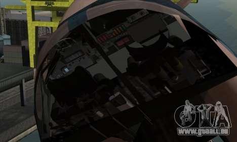 SU-24MP Fencer Blue Sea Camo für GTA San Andreas Rückansicht