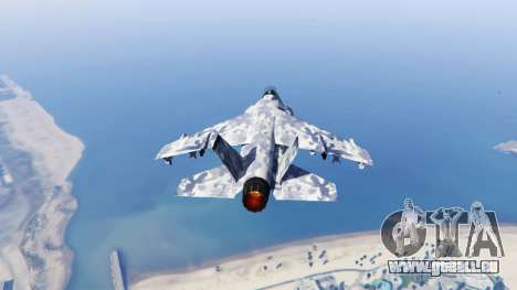 GTA 5 Hydra light blue camouflage dritten Screenshot