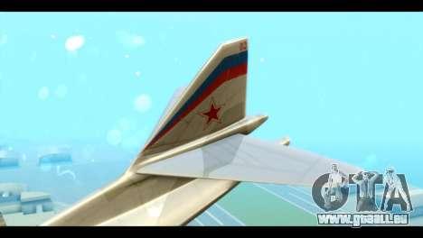 TU-160 Blackjack pour GTA San Andreas sur la vue arrière gauche